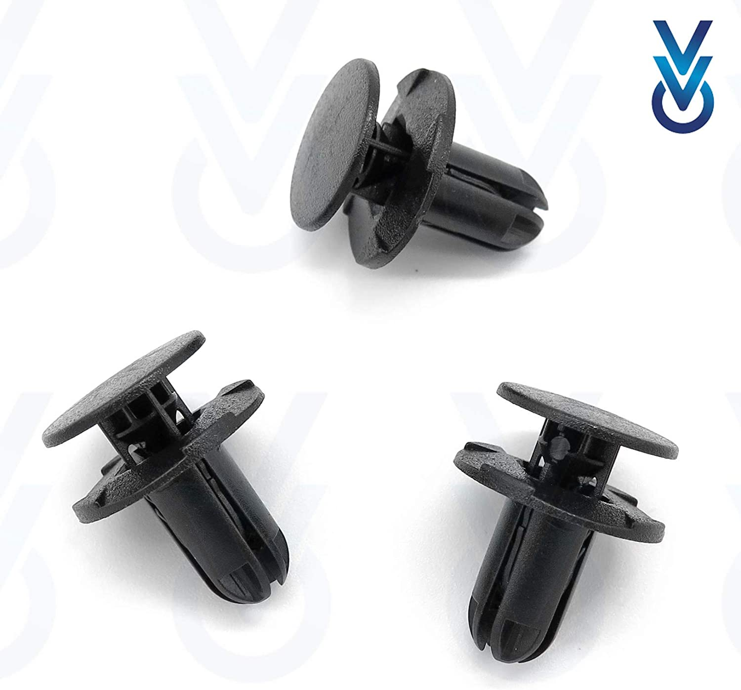 Pack of 10 VVO Fasteners Front Bumper /& Trim Fastener Clips Black
