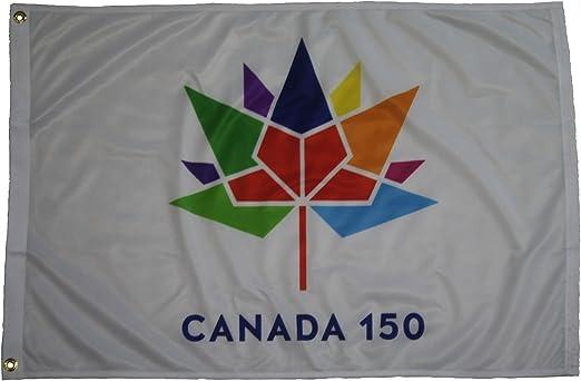 CANADA 150 YEAR ANNIVERSARY 1867-2017 WHITE 2 X 3 FEET FLAG BANNER