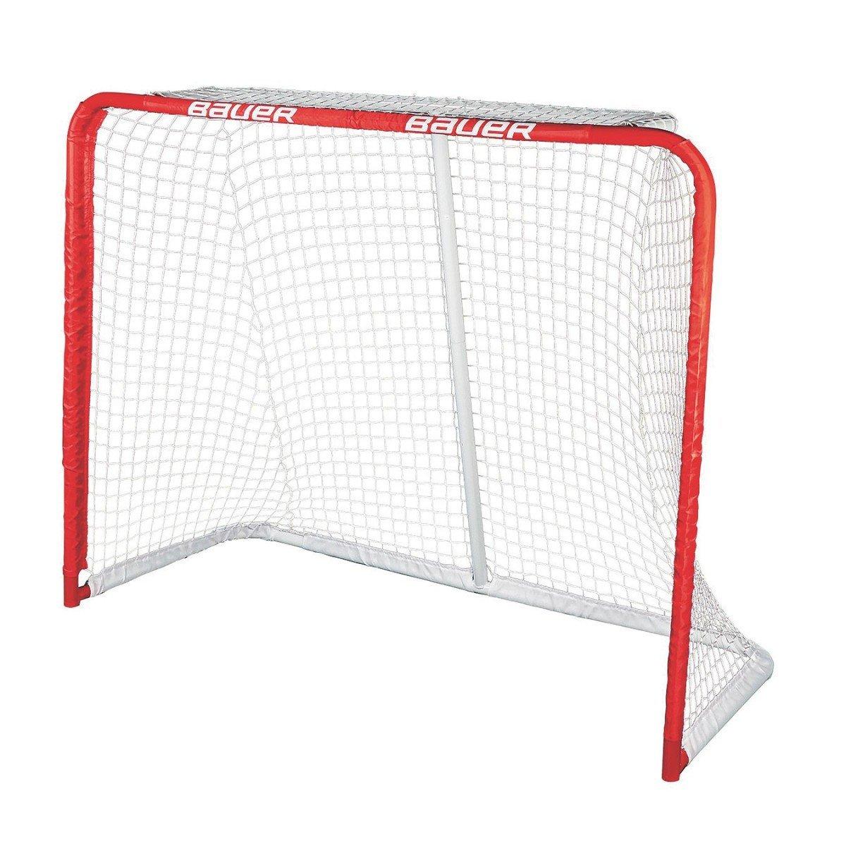 Bauer Street Hockey Deluxe Recreational Steel Goal, 54 x 44-Inch Bauer Deluxe REC Steel Goal Red Bauer Performance Sports 1046698