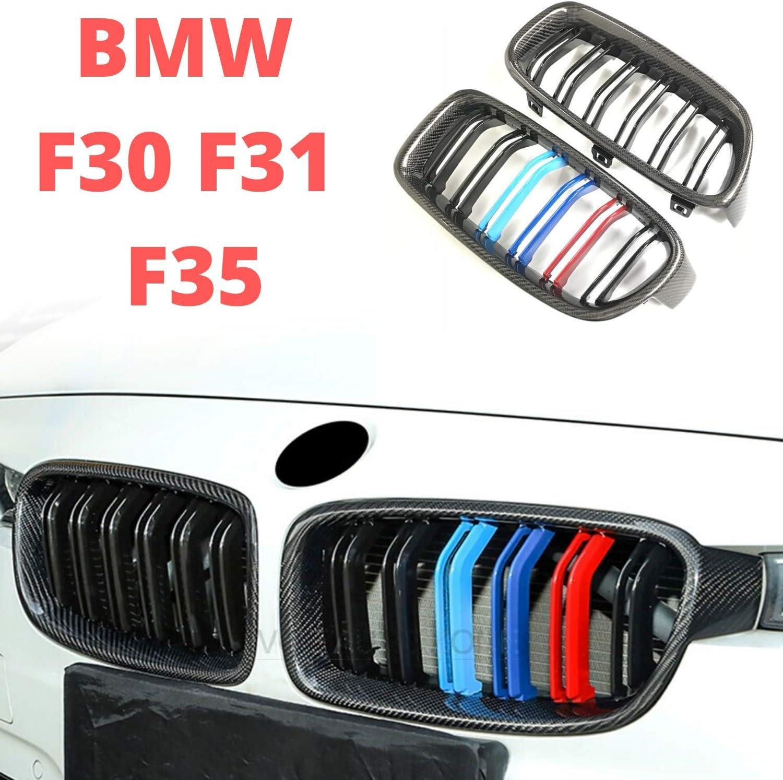 Doppelsteg CRS/® Nieren Sport K/ühlergrill f/ür 3er F30 F31 - DE H/ändler Mit Rechnung /& MwSt Carbon schwarz M-Power Farben