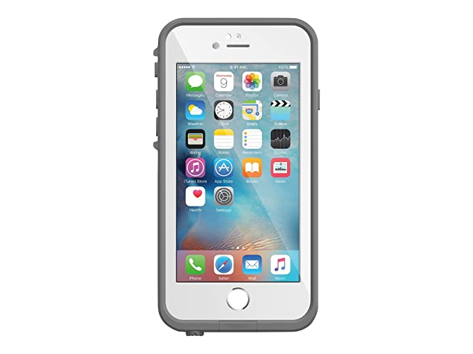 huge discount f00d6 0ec79 LifeProof FRE Waterproof Case for iPhone 6/6s (4.7-Inch Version)- Avalanche  (Bright White/Cool Grey)