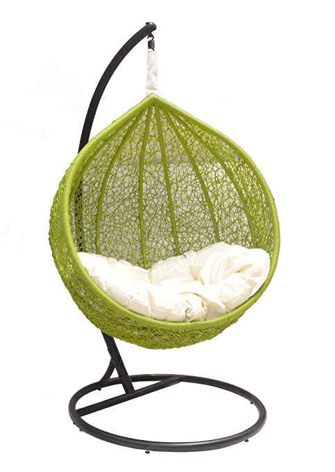 Amazon.com : Ceri   Vibrant Outdoor Swing Chair Great Hammocks   Model    CW003 GN : Outdoor Wicker Swing Chair : Garden U0026 Outdoor