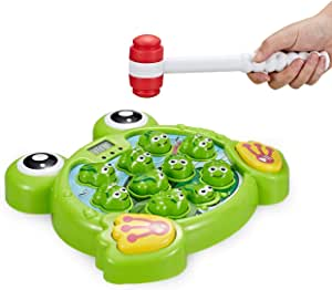 Think Gizmos Interactive Whack A Frog TG702 - Fun Boys & Girls of Age 3 4 5 6 7 8, Learning, Active, Early Developmental STEM Pounding Toy for Toddlers