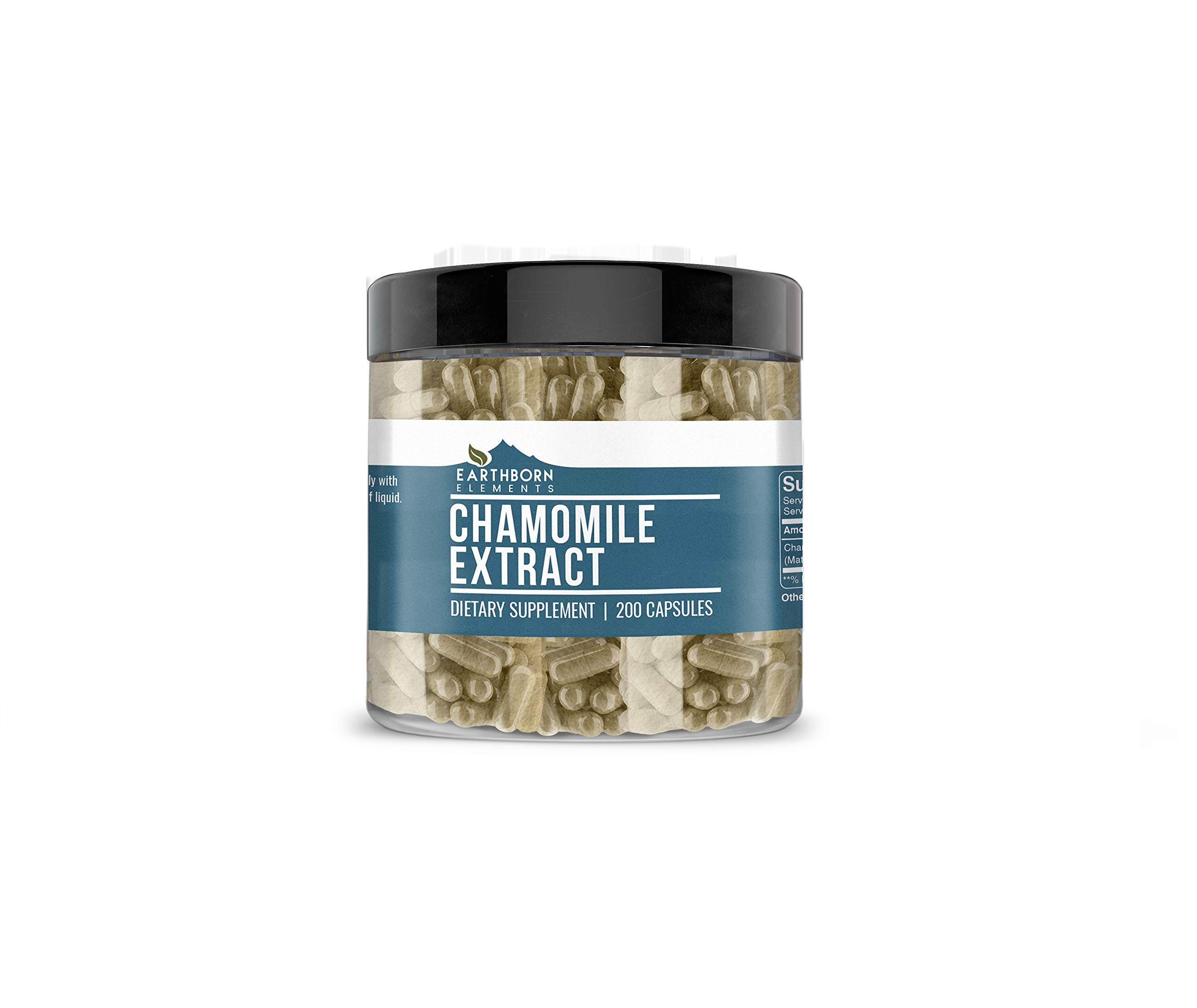 Chamomile Extract, 200 Caps, 450 mg Serving, Non-GMO, Pure, Potent & Natural, No Rice Fillers or Stearates, Made in The USA, Lab-Tested Quality