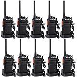 Retevis RT24 Plus Walkie Talkie 0.5W PMR446 Licenza-libero 16 Canali Radio Bidirezionale con Caricatore USB e auricolare (5 Coppie, Nero)