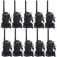 Retevis RT24 Plus sans Licence Talkie Walkie Rechargeable PMR446 Radio Bidirectionnelle Légal 16 Canaux 50CTCSS 210DCS avec Écouteurs (Noir, 10 pcs)
