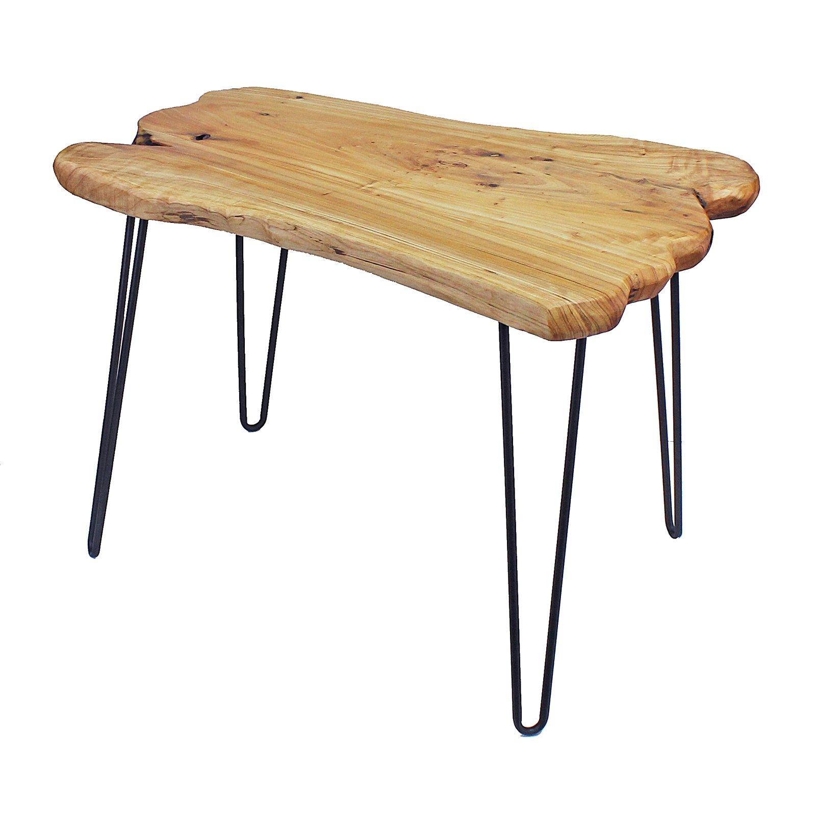 WELLAND Cedar Live Edge Hairpin Coffee Table 28'' L x 20'' W x 20.5'' T by WELLAND (Image #2)