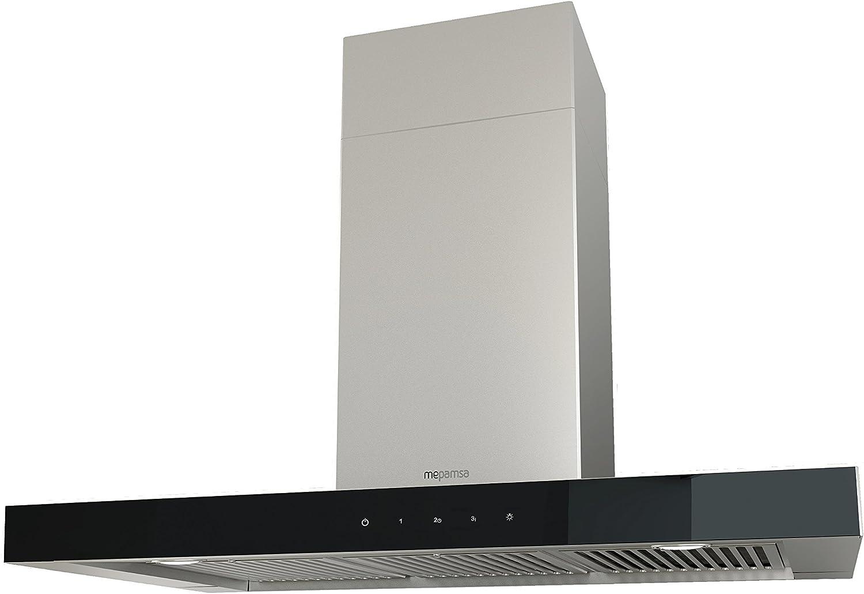 Mepamsa Stilux Pro 90 Campana aspirante decorativa de pared de inox, 20 W, Vidrio, Acero inoxidable, 3 Velocidades, Negro: Amazon.es: Grandes electrodomésticos