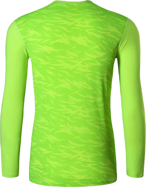 jeansian Uomo Moda Formazione Manica Lunga Sportivo Casuale Palestra Fashion Tee T-Shirts Camicie LA184