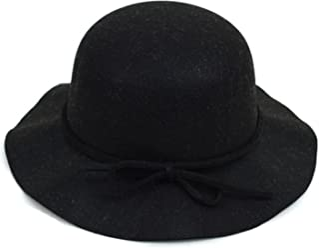 49f77510834fee BG Women's Polyester Felt Floppy Short Brim Bowknot Hat