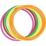 Crystallove 12pcs Plastic Random Color Toss Rings for Carnival Garden Backyard Outdoor Games