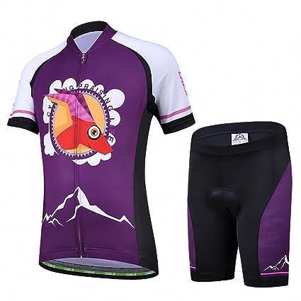 Ateid Maillot de Ciclismo y Pantalones Cortos para Niños