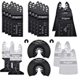 Cegzer 18 Universal Metal Wood Oscillating Multitool Quick Release Saw Blades Compatible with Fein Multimaster Porter Cable B