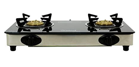 eece5984bb9 Buy SIGRI-WALA AUTO Ignition Stainless Steel 2 Burner Gas Stove (Auto  Ignition 2 Burner) for Domestic LPG Only Online at Low Prices in India -  Amazon.in