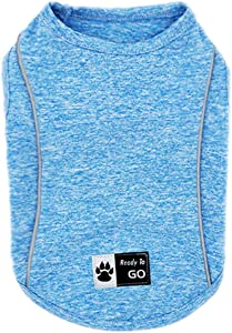 kyeese Dog Shirt Quick Dry Soft Breathable Dog T-Shirt Reflective Tank Top Sleeveless Vest Spring Summer Cat Shirts