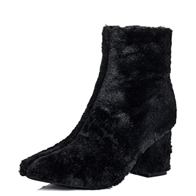 0ec80b516d97f Amazon.com   Spylovebuy Foxie Women's Synthetic Furry Hairy Block ...