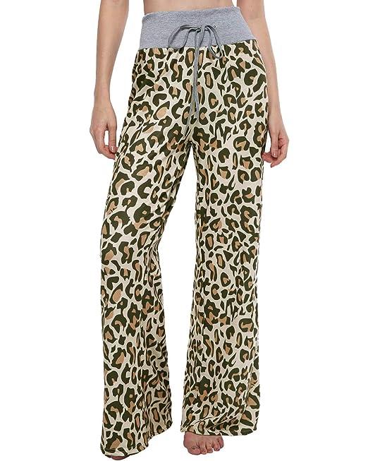 Kinikiss Mujer Pantalones Anchos Casual Floral Talle Alto Pantalón Yoga  Jogging Deportivos Grandes M - 2XL  Amazon.es  Ropa y accesorios 43fdc2f33abd
