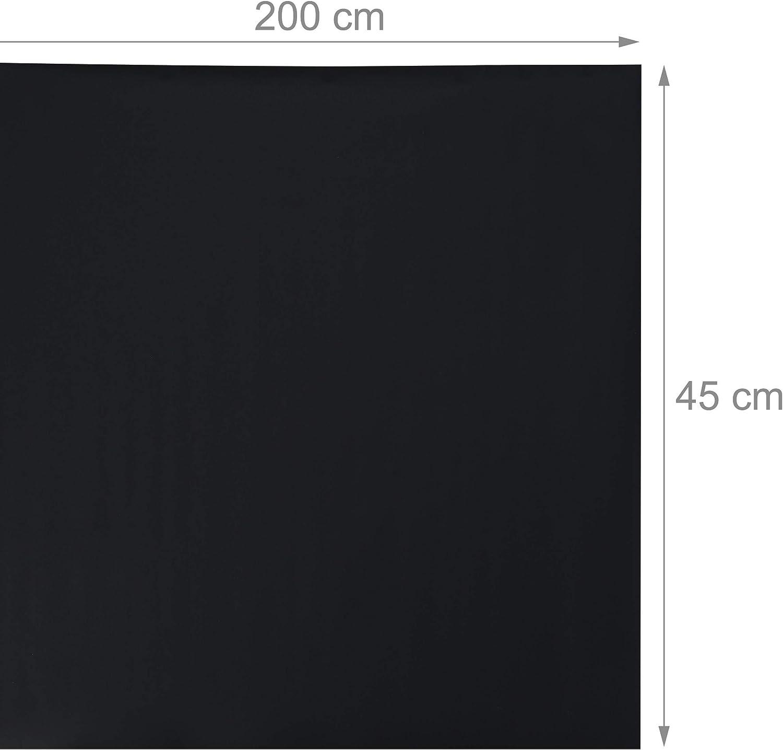 Wand gr/ün selbstklebend Kreidefolie f/ür K/ühlschrank DIY Kindertafel zum Kleben Relaxdays Tafelfolie 200 x 45 cm