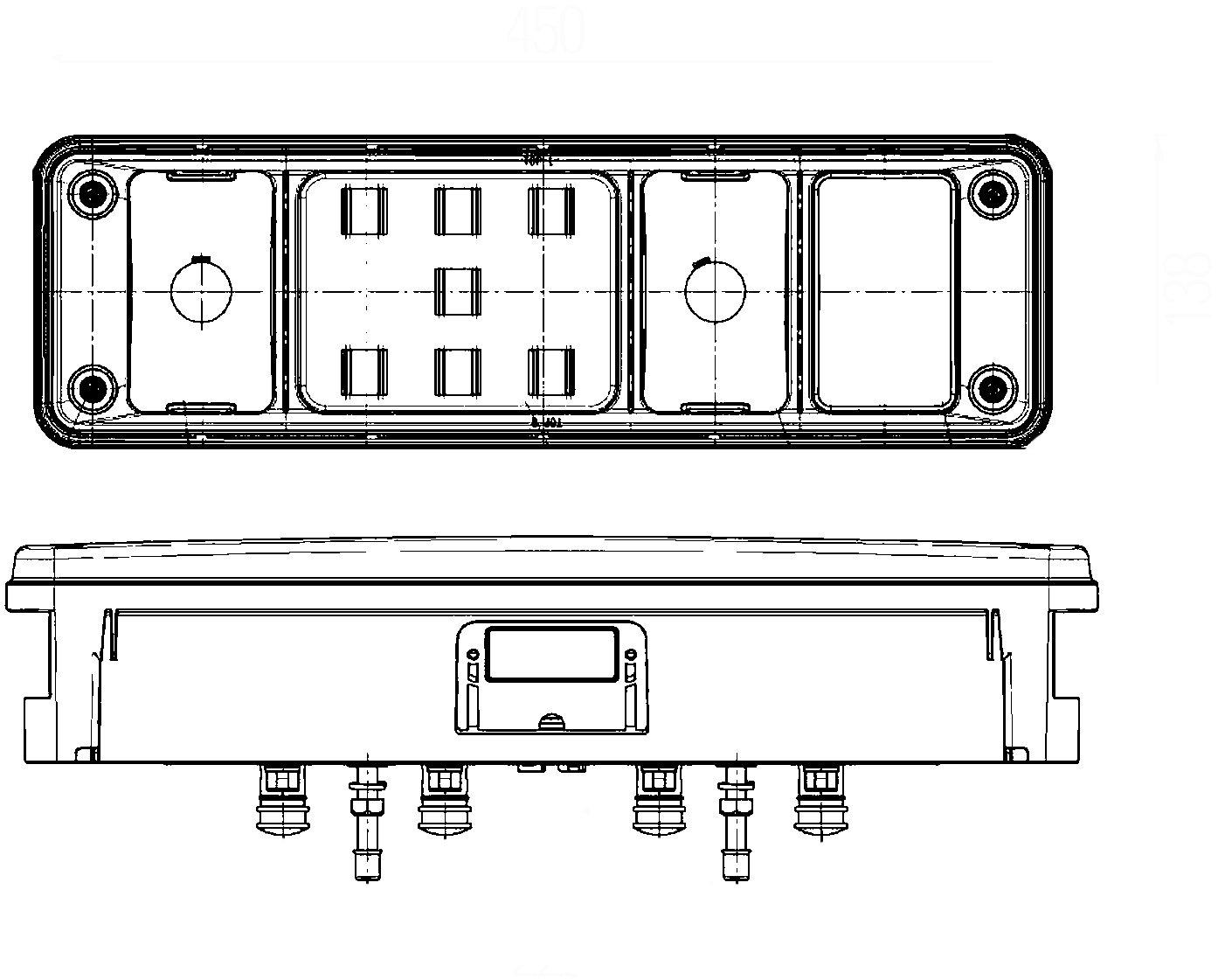 con l/ámpara con tecnolog/ía h/íbrida HELLA 2VP 340 961-121 Piloto posterior 24V derecha con soporte