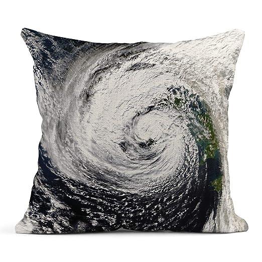 Kinhevao Throw Pillow Storm Hurricane Ophelia Hits Irlanda of This ...