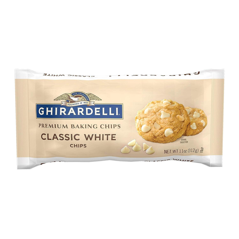 Ghirardelli Classic White Chocolate Premium Baking Chips - 11 oz. (312g)?, Pack of 6