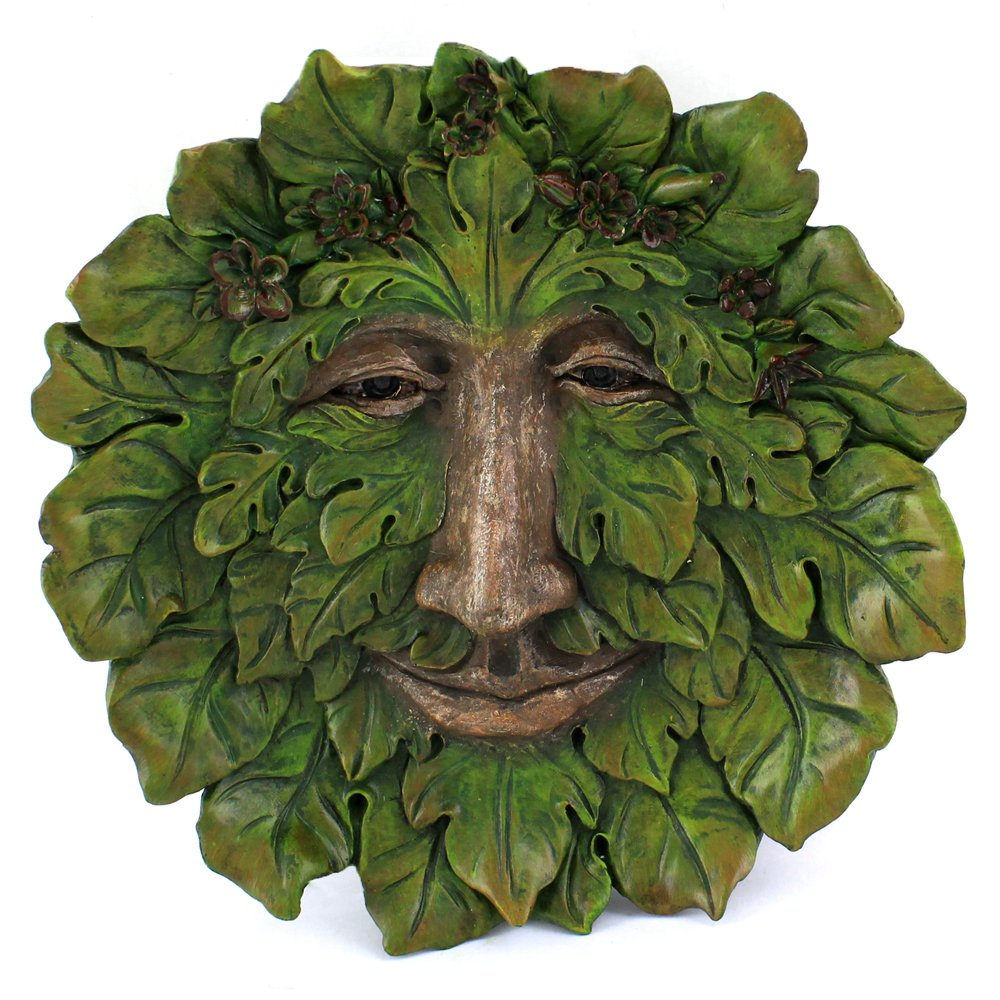 Top Collection Garden Fig Green Man Hanging Plaque, Large