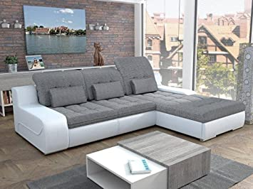 European Sleeper Sectional Sofa Pull Out Bed GIORGIO With Storage Modern  Design U2026 (color