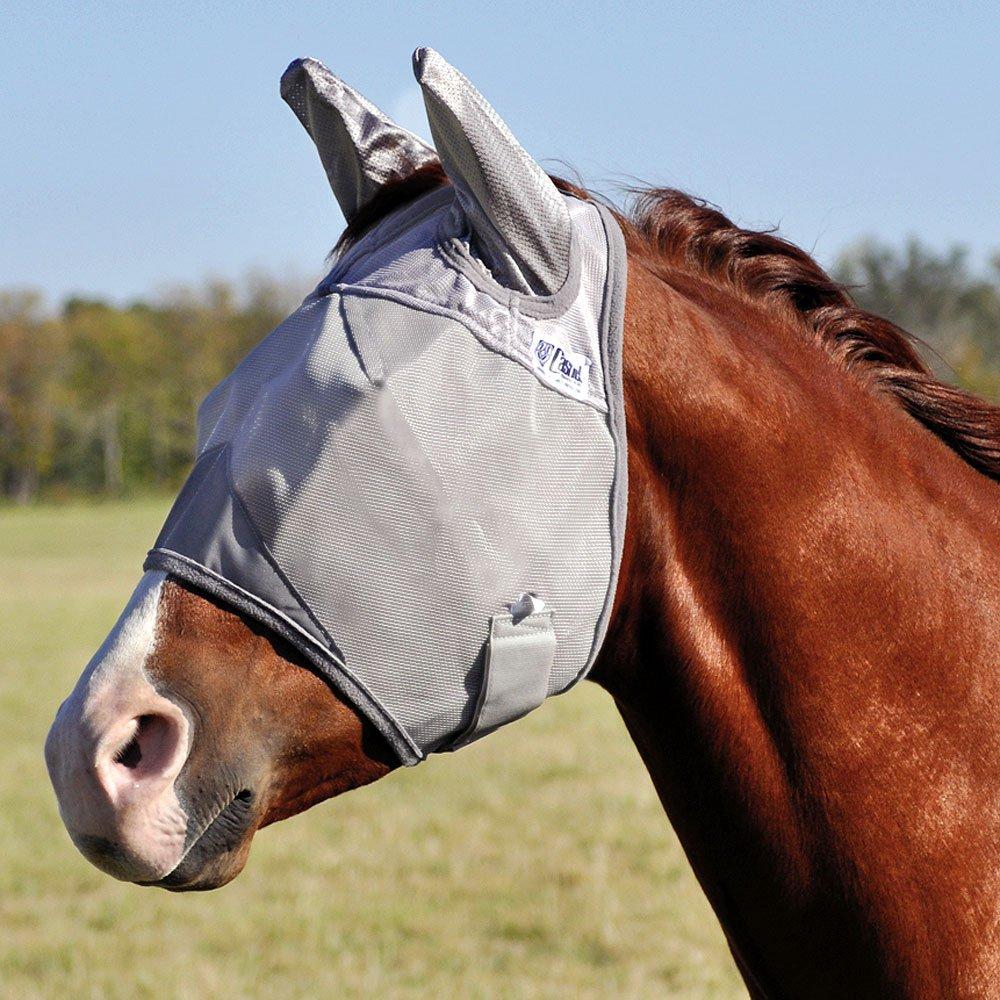 Cashel Crusader Mule Fly Mask with Ears Grey Arab