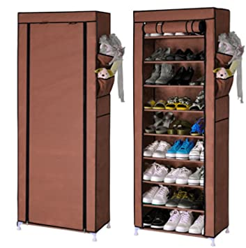 New Shoe Cabinet Shoes Racks Storage Large Capacity Home Furniture DIY  Simple 9 Layers (Coffee