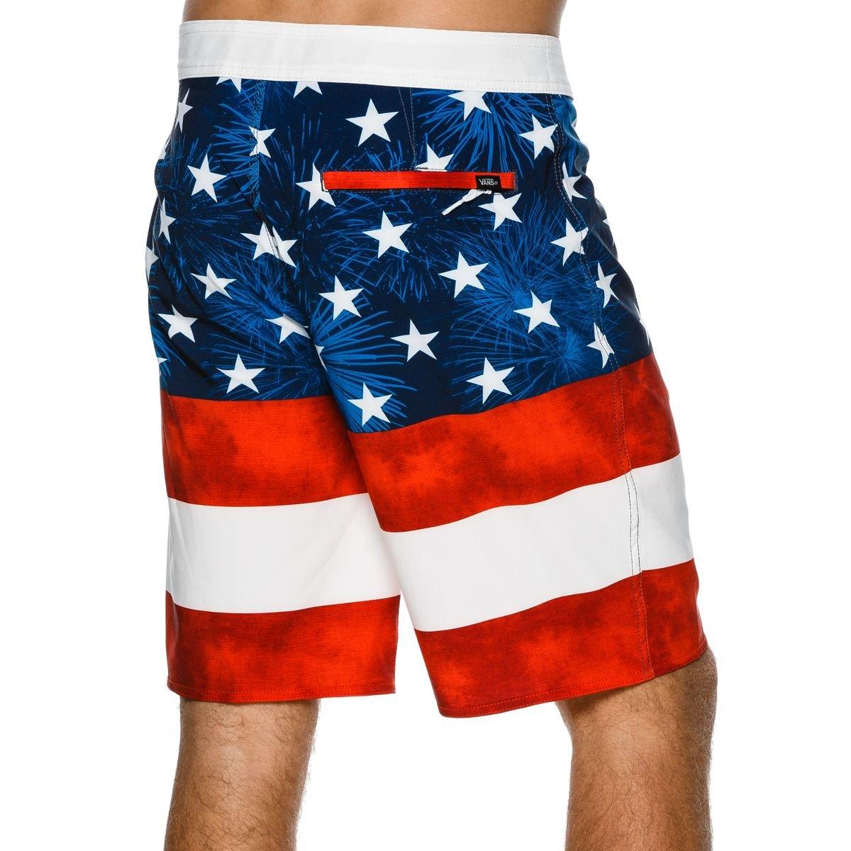 dae9065cfb Vans Wall Men's Era USA Boardshorts - American Flag | Amazon.com