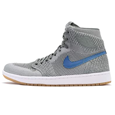 e648b7d5aac4de Image Unavailable. Image not available for. Color  Nike Air Jordan 1 Retro  Hi Flyknit Mens Basketball Trainers 919704 ...