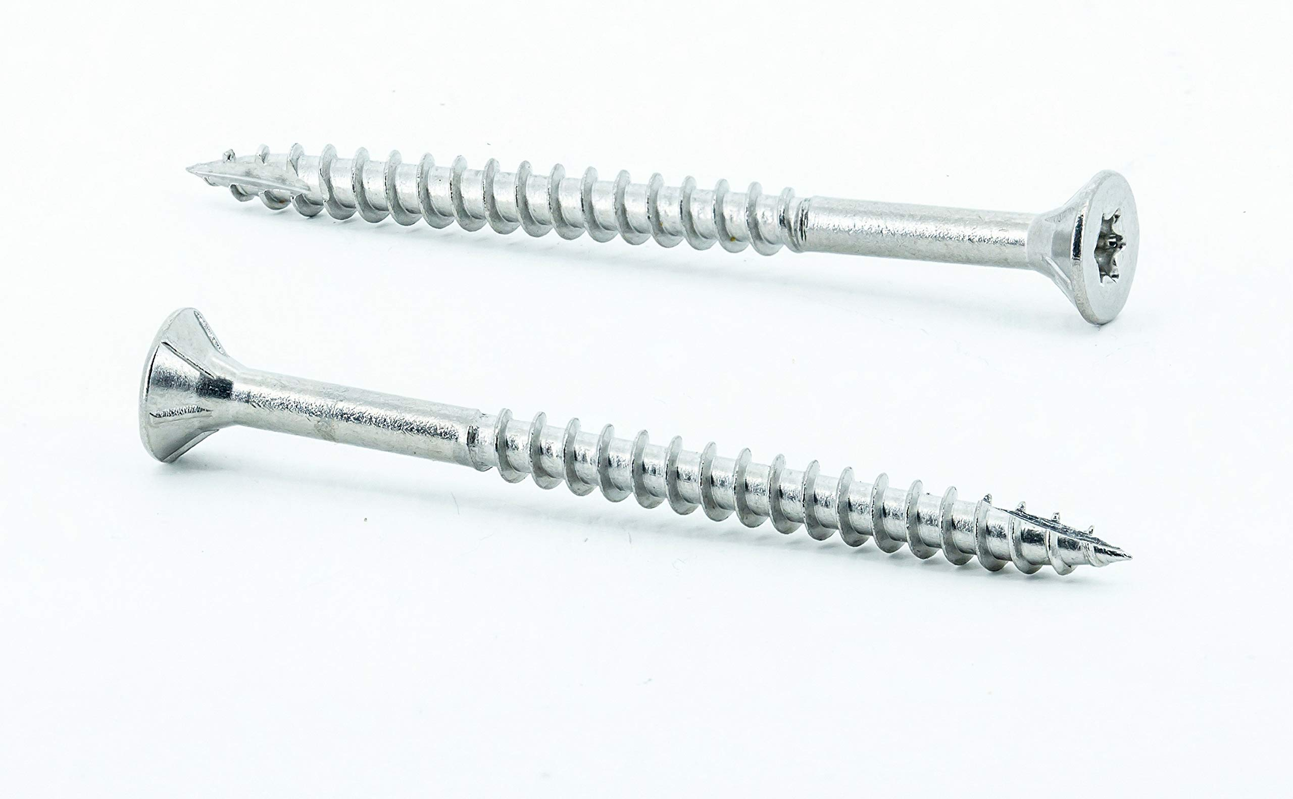 #10 x 2-1/2'' Stainless Steel Deck Screws, (1750 Pack, 21.2 lb) Star Drive T25, Type 17 Wood Cutting Point, 18-8 (304) Grade Stainless Steel, by Eagle Claw Tools and Fasteners
