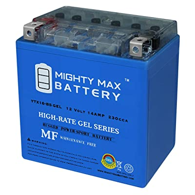 Mighty Max Battery YTX16-BS 12V 14AH Gel Replacement for GT16-BS, GTX16-BS, PTX16-BS Brand Product: Toys & Games