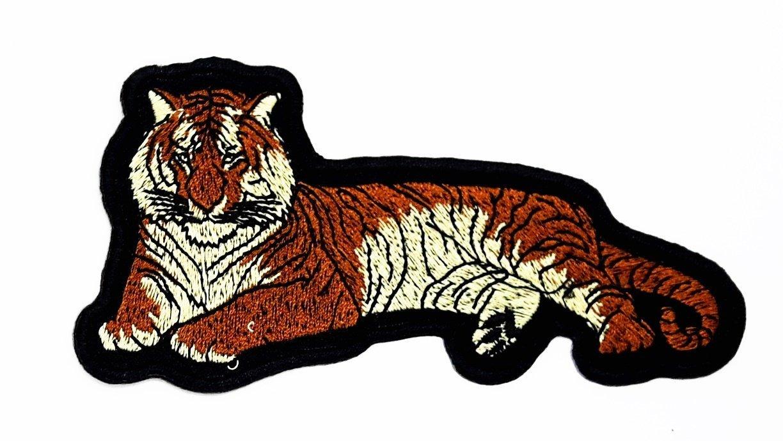 Tiger Cartoon Hippie Retro - Chaqueta de ciclista para coser o ...