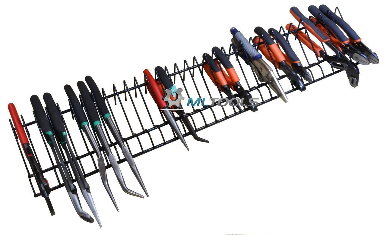 Pliers Organizer | Pliers Cutters Organizer | Rack Holder Storage | 30 inch Long Holds 32 Tools | P8241 by MLTOOLS