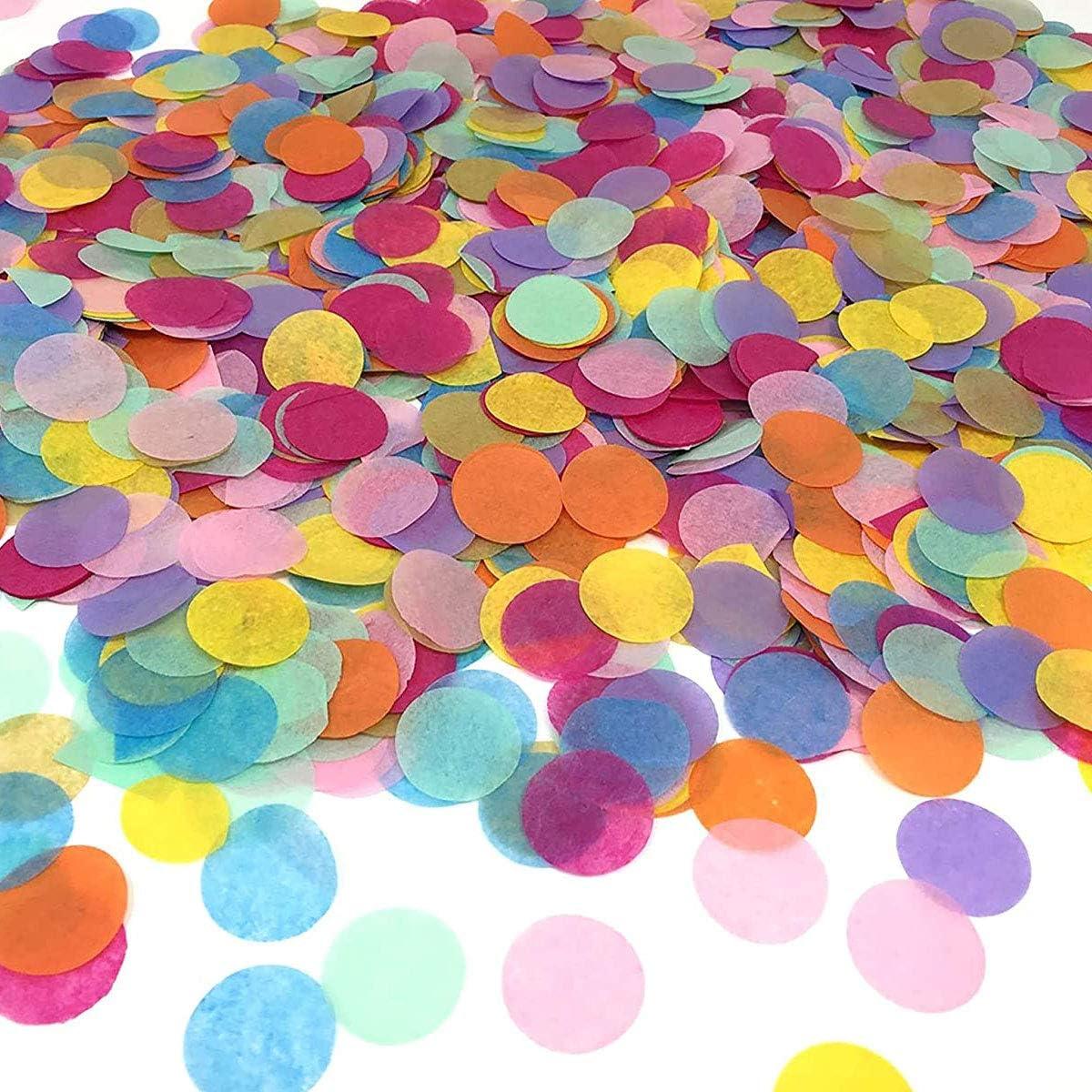 Toallas de papel redondas de confeti, decoración para el hogar, bodas, cumpleaños, fiestas, colores variados