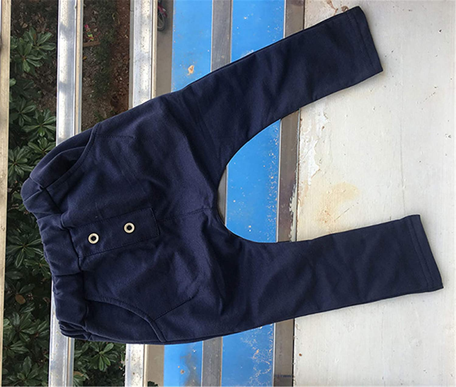 MRxcff New Children Spring Autumn Clothes Kids Trousers Girls Pants for Baby Boys Harem Pants Solid Blue Green Buttons