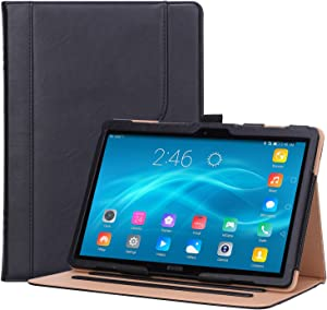"ProCase Lenovo Tab P10 / M10 / M10 HD 10.1 Case, Leather Protective Stand Folio Case Cover for Lenovo Tab P10 TB-X705F TB-X705L / M10 HD TB-X505F TB-X505L / M10 TB-X605F TB-X605L 10.1"" Tablet –Black"