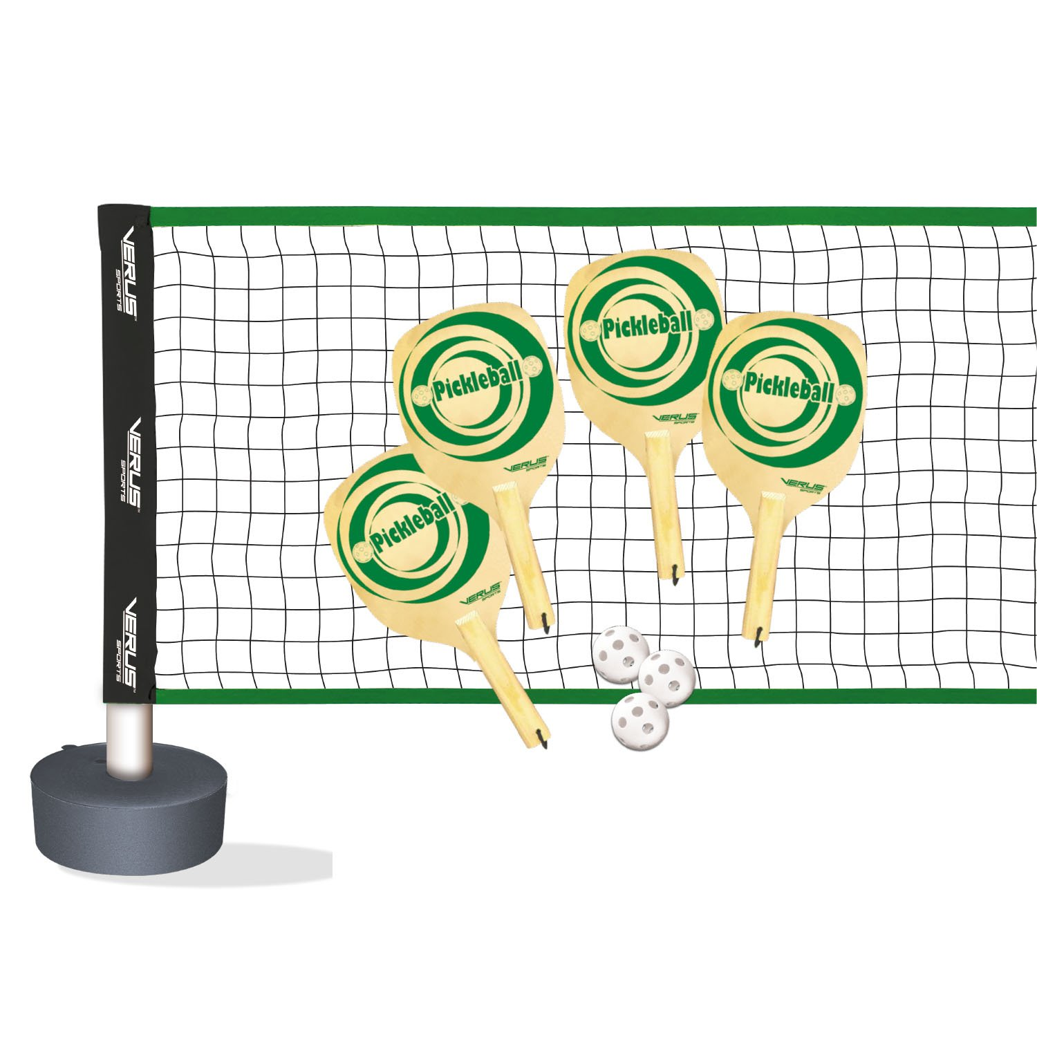 Verus Sports TG410 Complete Pickle ball Set (includes net, base, paddles, and balls) by Verus Sports