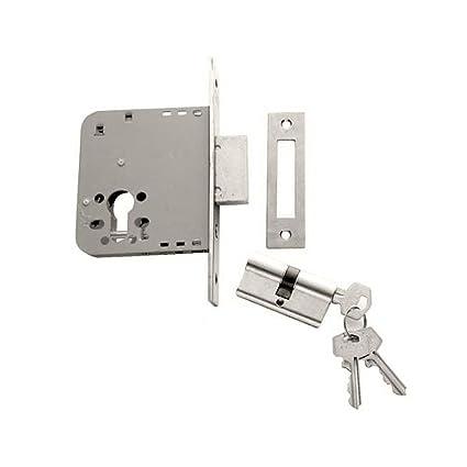 Tesa Assa Abloy, 203150HN, Cerradura De Embutir Para Puertas De Madera, 50 mm