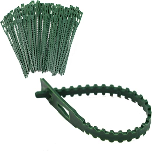 Plastic Cable Ties to help support Plants Stems and flowers Vines 18cm long SpiffyJack Adjustable Plant Ties For Gardening and Plants