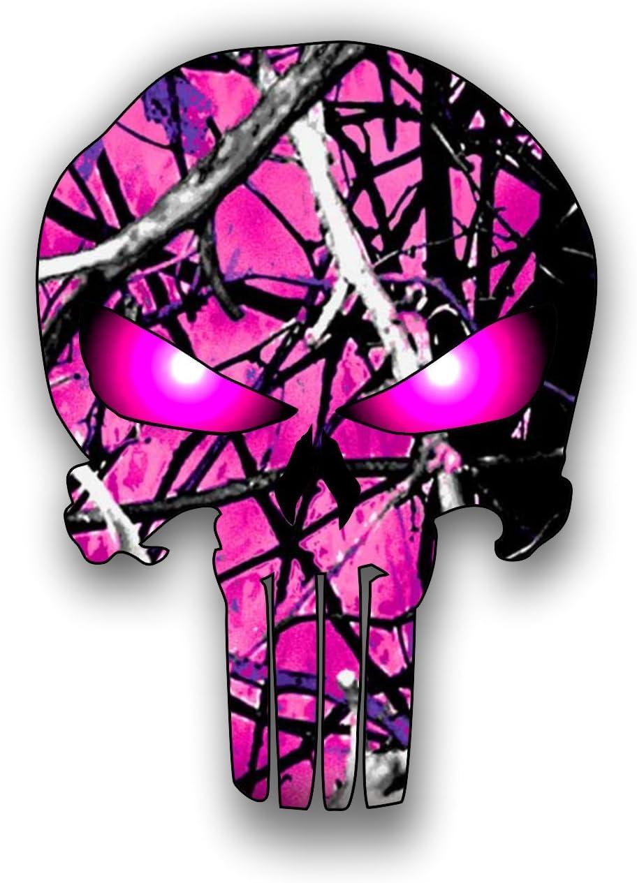 Vinyl Junkie Graphics Punisher Skull Hot Pink Camouflage car Truck Laptop Sticker Custom Graphic Decal 5