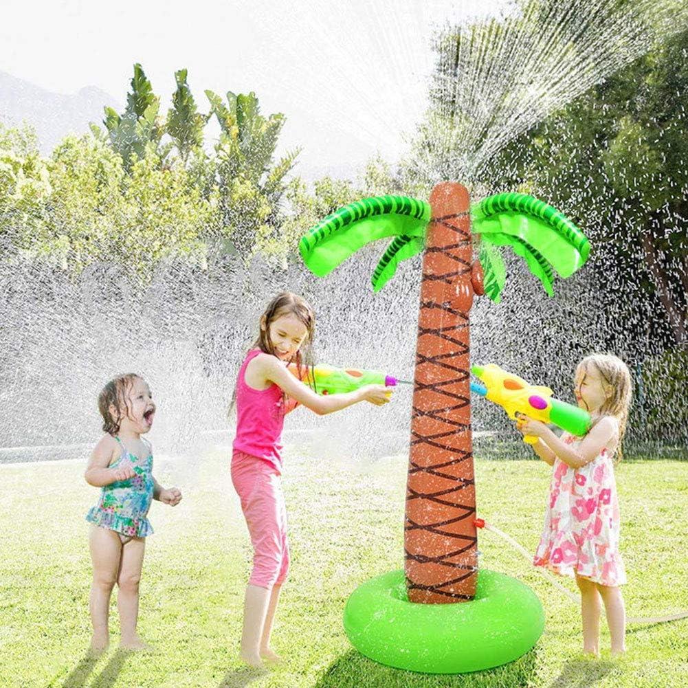 Juguete de Rociadores de Agua Inflable Jardín al Aire Libre Césped en la Playa Árbol de Coco Aerosol de Agua Juguete Niños Mascotas Verano Enfriar Spray 150CM