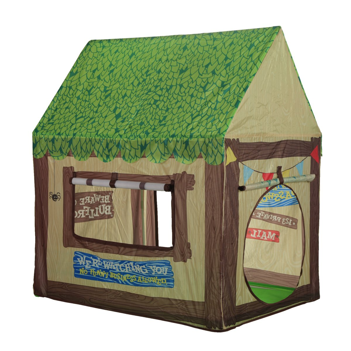 Kids Play Tent Children Playhouse - Indoor Outdoor Tent Model Clubhouse Green Portable by K-F Decorations Ltd.