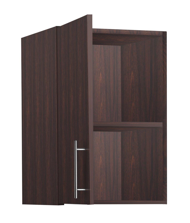 LifeSky LIF-CKC3002-2 Storage Cabinet, 16''x24'' Wall, Walnut by LifeSky (Image #2)