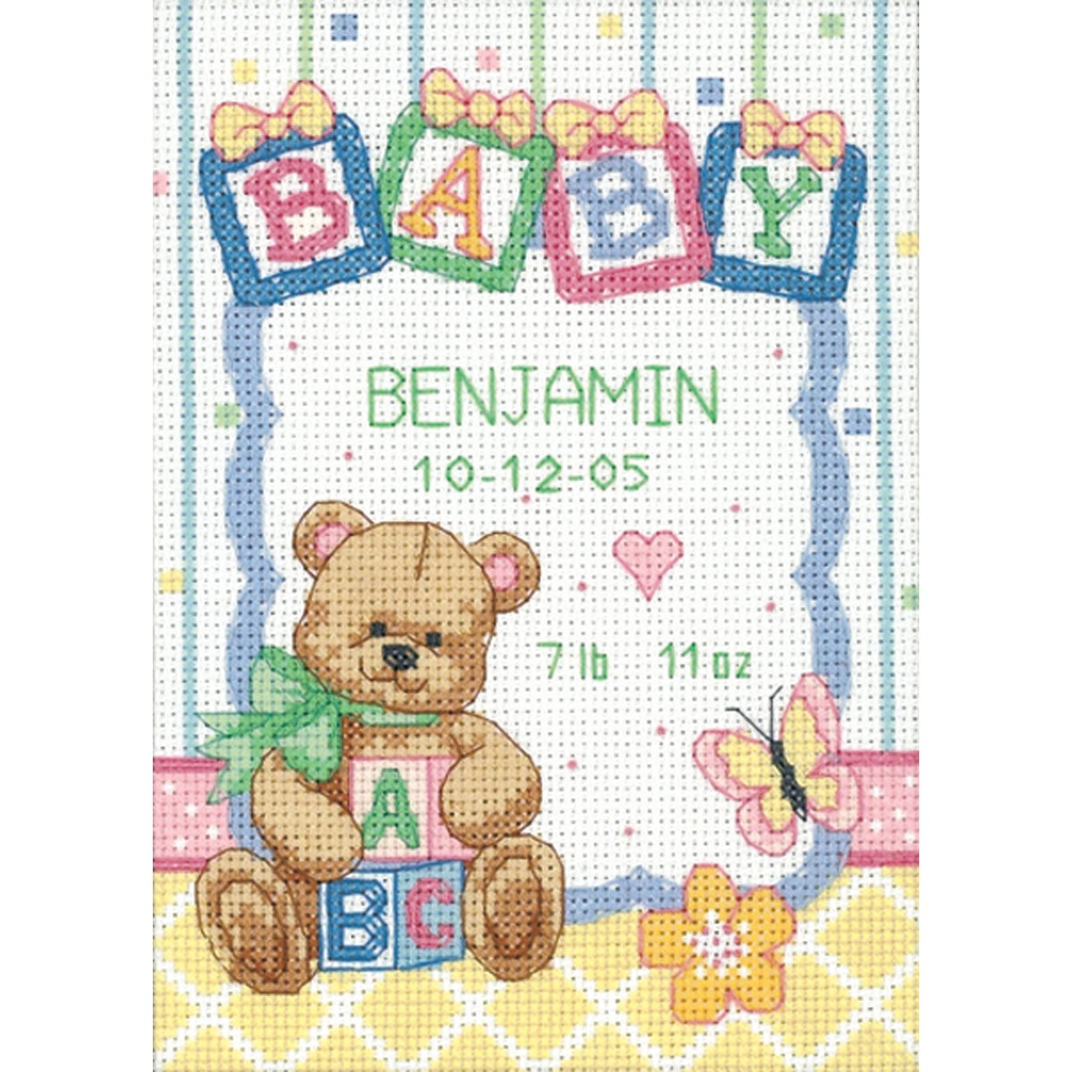 Amazon Dimensions Needlecrafts Counted Cross Stitch Baby – Birth Announcements Cross Stitch