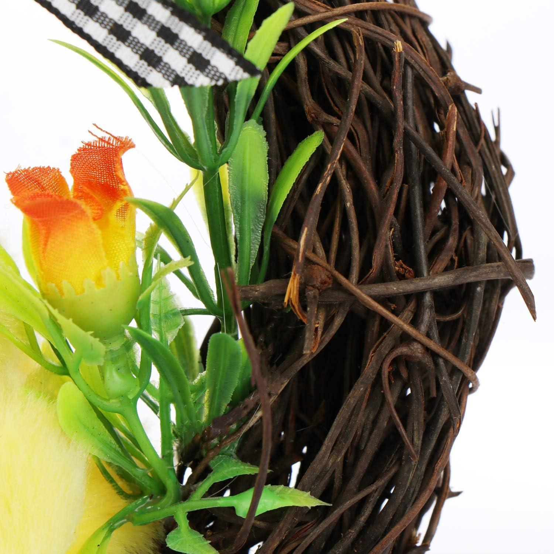 Composizione Pasquale con Uova pasquali Ghirlanda Decorativa per Pasqua Splendida Ghirlanda Porta 01 Pezzo - 23cm com-four/® Ghirlanda Pasquale con Uova Colorate