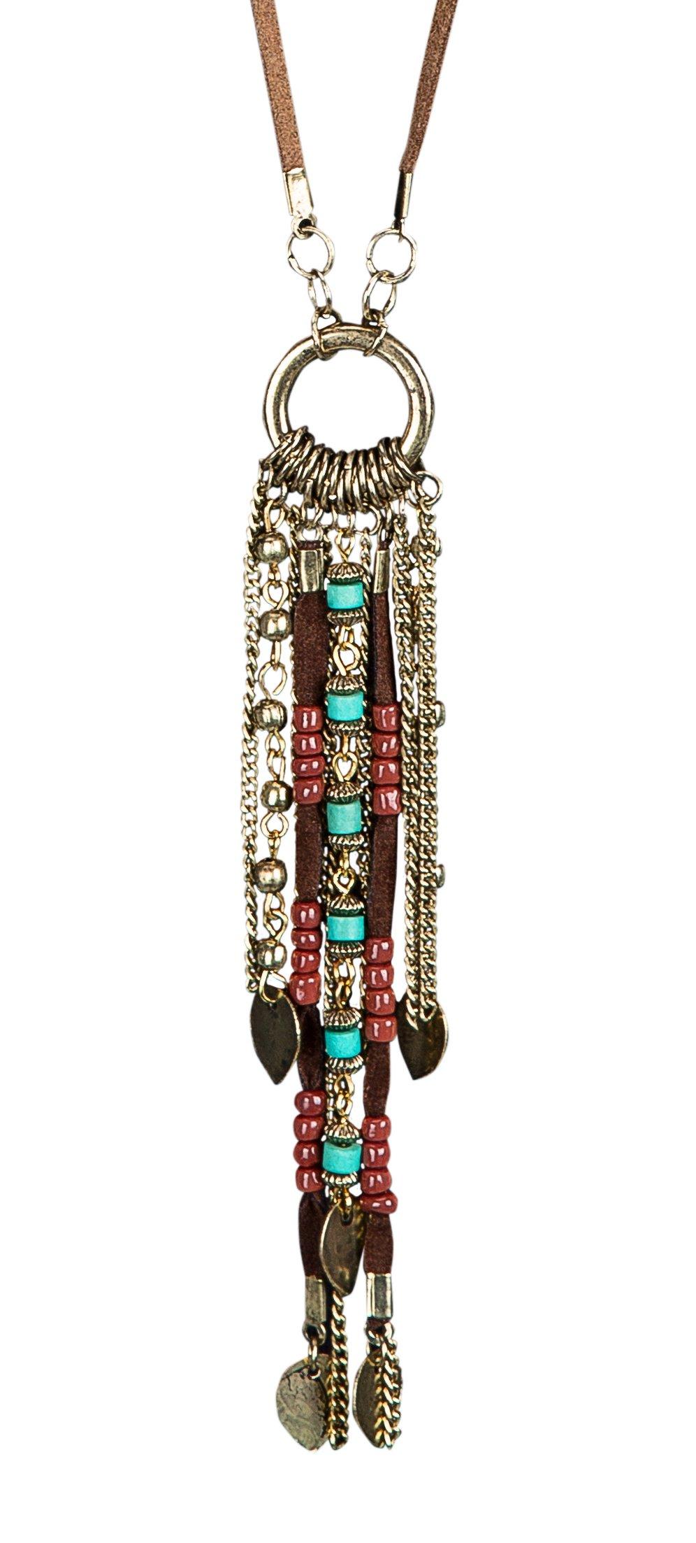 SPUNKYsoul New! Handmade Boho Genuine Leather Fringe Necklace for Women Collection