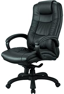 Nicer Furniture Executive High Back Chair Real Leather