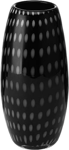 Mikasa Artisan Series Onyx Confetti Small Vase, 9.5-Inch